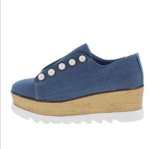 New⚡️Denim Oxford Lugsole Platform Shoes